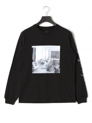 ブラック アフリーク プリント 長袖Tシャツを見る