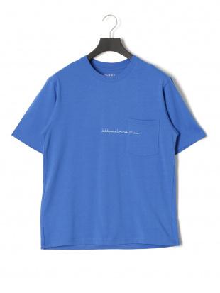 ブルー キープカーム プリント 半袖Tシャツを見る