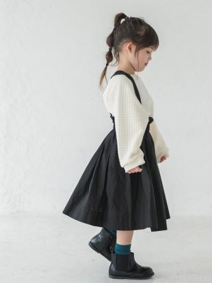BLACK ハイウエストギャザースカートを見る