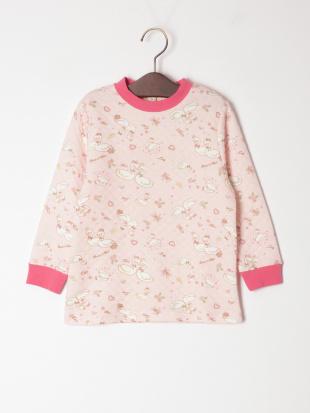 ピンク スワン柄 キルトパジャマを見る