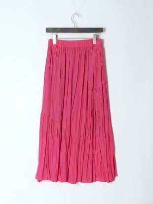 ピンク 《Maglie par ef-de》ティアードフレアスカートを見る