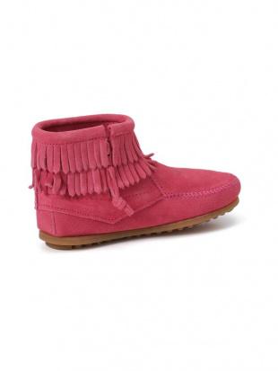 ピンク Kid's DOUBLE FRINGE SIDE ZIP BOOT レザー フリンジ サイドジップ ブーツを見る