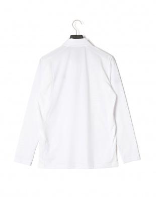 ホワイト 長袖ポロシャツを見る