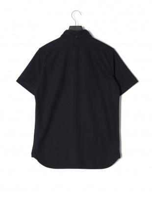 ネイビー 半袖 ニットシャツを見る
