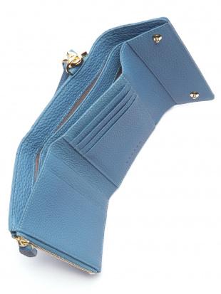 ブルー KUBERA tri-fold wallet (shrunken calf)を見る