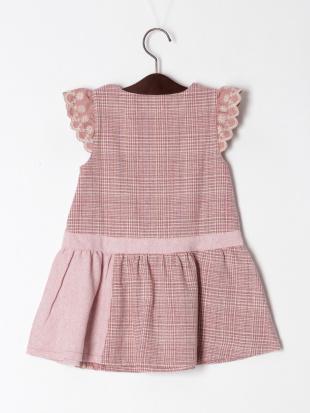 ピンク クラシックチェックジャンパースカートを見る