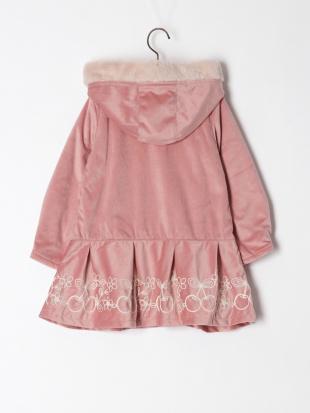 ピンク チェリー刺繍コートを見る