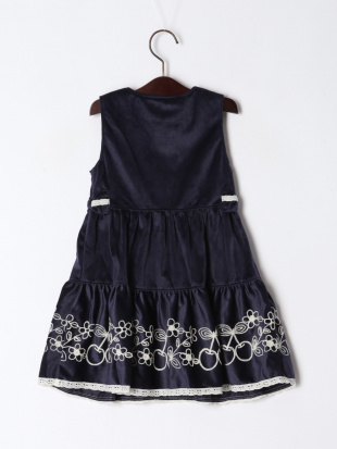 コン チェリー刺繍ジャンパースカートを見る