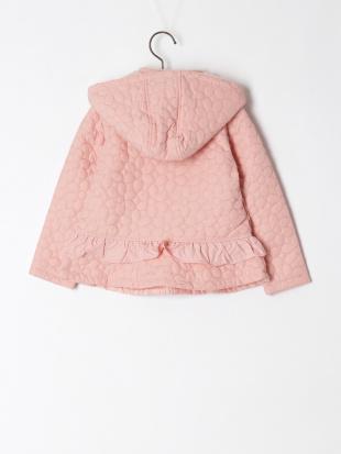 ピンク フラワーキルトコートを見る