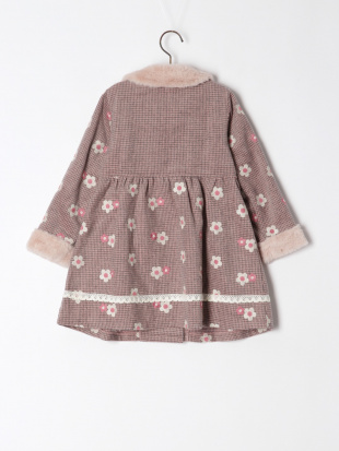 ピンク フラワー刺繍コートを見る