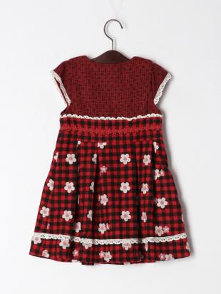レッド フラワー刺繍ジャンパースカートを見る