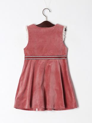 ピンク レトロフラワージャンパースカートを見る