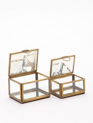 真鍮ガラスボックスS アンティークパターン&真鍮ガラスボックスL アンティークパターンを見る
