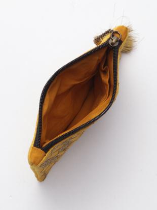 ハニカム刺繍ポーチ イエロー&ハニカム刺繍ミラー イエローを見る