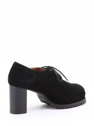 スエード プラットフォームレースアップ靴を見る