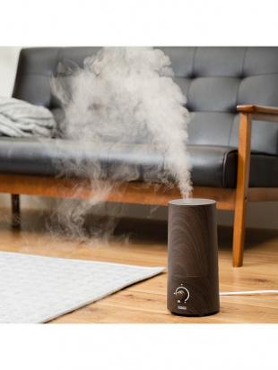 ウォールナット きれいなミストで加湿するアロマ超音波式加湿器-wood-を見る