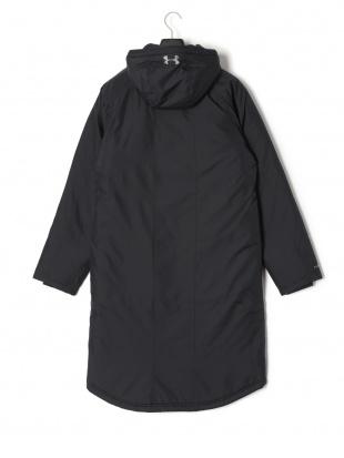 ブラック UA INSULATED LONG COAT 中綿入 フーデッド ダブルジップ ロングコートを見る
