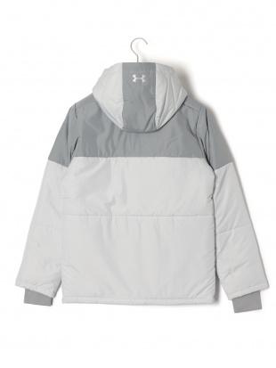 グレー UA INSULATED JACKET 中綿入 フーデッド ジップアップ ジャケットを見る