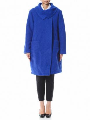 ブルー イタリア製  ウールコートを見る