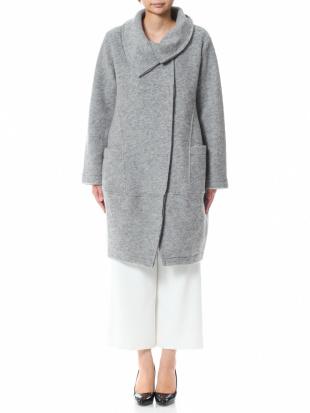 ライトグレー イタリア製  ウールコートを見る