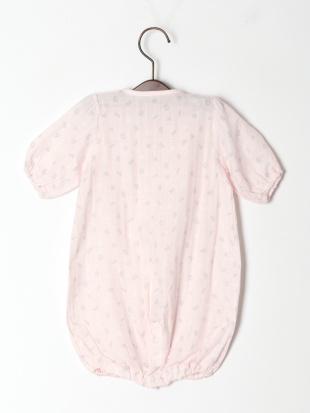 ピンク ダブルガーゼ数字柄ドレスオールを見る