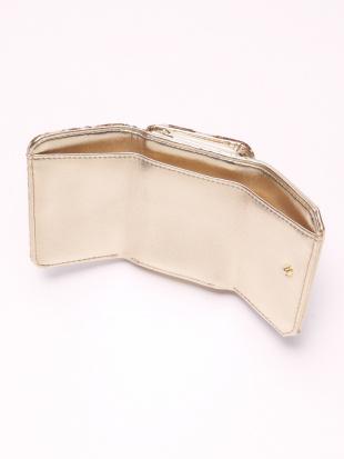 GOLD ジャガード財布を見る