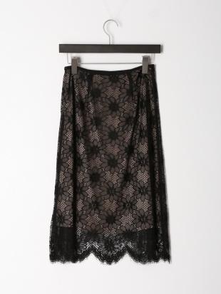 ブラック べリスリバーレーススカートを見る
