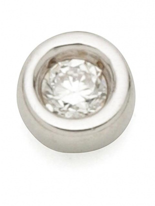 ホワイトゴールド K10WG ダイヤモンド(0.01ct) スーパーロングチェーンジャケット 片耳ピアスを見る