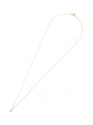イエローゴールド K10YG ダイヤモンド(0.01ct) ベビーファットフォント ナンバーネックレス【THREE】を見る
