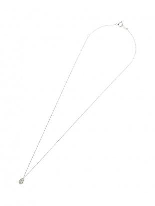 ホワイトゴールド K18WG ダイヤモンド ドロップモチーフ ネックレスを見る
