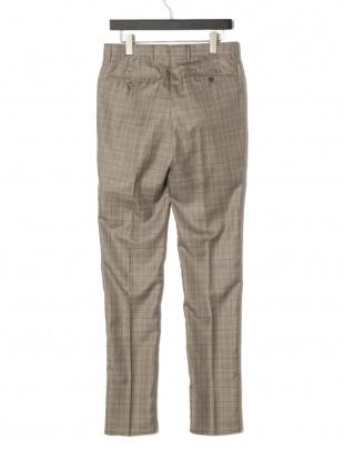 コルダ PT01 シルク混 チェック タブフロント パンツを見る