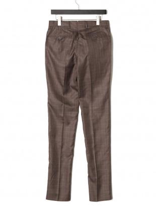 ノッチョーラ PT01 シルク混 チェック タブフロント パンツを見る