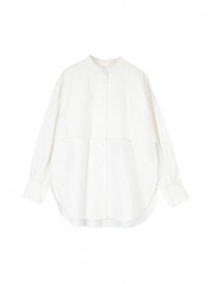 オフホワイト リボン付きフライヨークバンドカラーシャツを見る