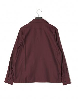 ワイン (2740)SU SPM.C オープンカラーシャツを見る