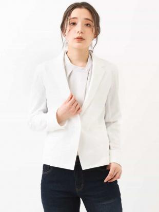 ホワイト 【洗える】テーラードジャケット MK MICHEL KLEINを見る
