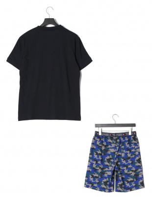 ネイビーグレーミックス 半袖Tシャツ & ハーフパンツ (ラウンジウェア)を見る