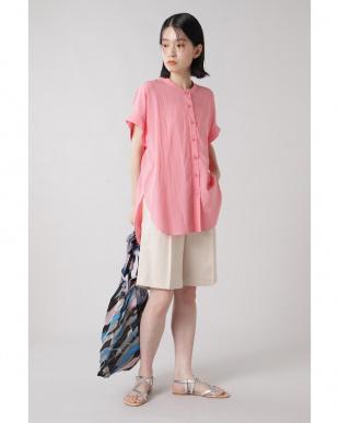 ピンク バンドカラーシャツ R/B(バイイング)を見る
