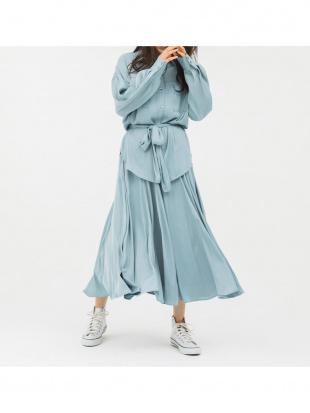 ブルー とろみロングスカートを見る