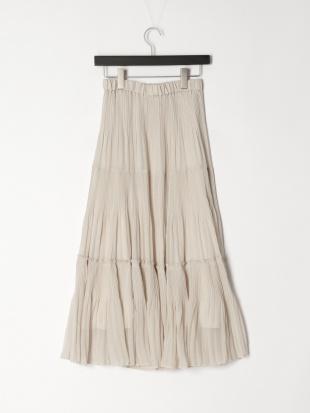 ライトグレー ティアードプリーツスカートを見る