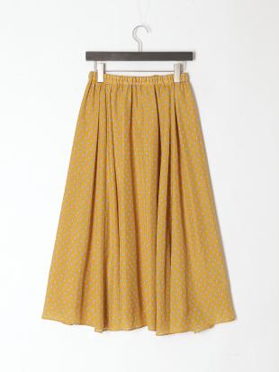 カラシ プロヴァンス柄ロングスカートを見る