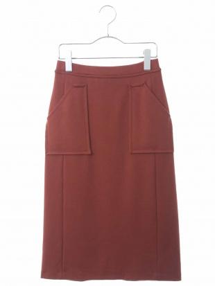 ブラウン 【洗える・セットアップ】ジャージタイトスカート GEORGES RECHを見る