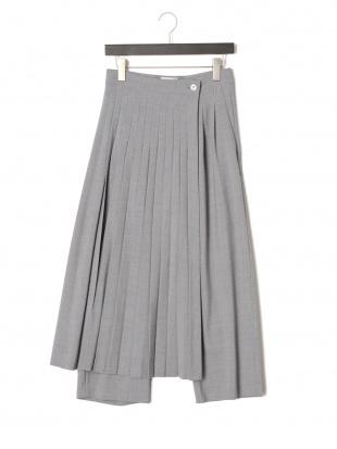 GRAY ラッププリーツスカート付きワイドパンツを見る