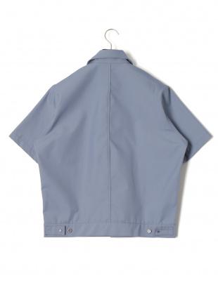 サックス Allege. ジップアップ 半袖ジャケットを見る