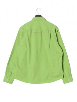 グリーン NAISSANCE プリント ボタンダウン 長袖シャツを見る