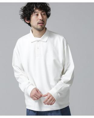 ホワイト ビッグシルエットポロシャツ ナノ・ユニバースメンズ(オリジナル)を見る