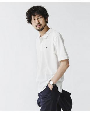 ホワイト 《WEB限定》ワンポイント刺繍ポロシャツ ナノ・ユニバースメンズ(オリジナル)を見る
