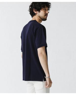 ネイビー 《WEB限定》ワンポイント刺繍バンドカラーポロシャツ ナノ・ユニバースメンズ(オリジナル)を見る