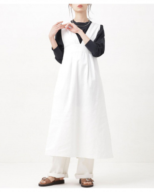ホワイト WEB限定/Vネックジャンパースカート ナノ・ユニバースウィメンズ(オリジナル)を見る