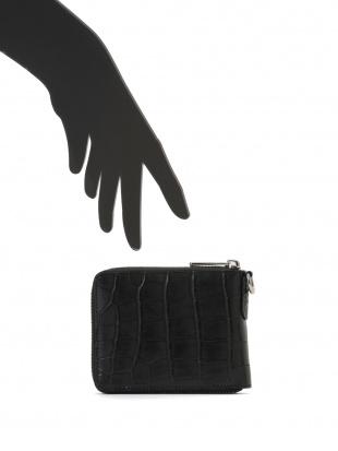 ブラック クロコダイルレザー ラウンドジップ財布を見る