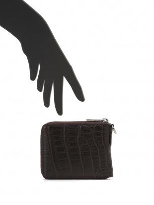 ブラウン クロコダイルレザー ラウンドジップ財布を見る